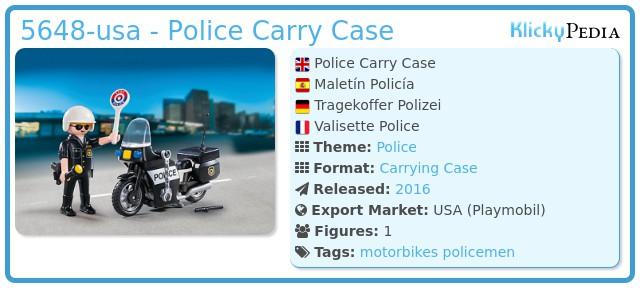 Playmobil 5648-usa - Police Carry Case