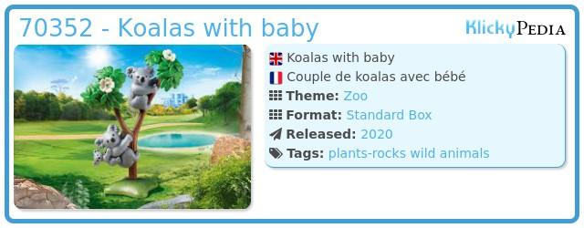 Playmobil 70352 - Couple of koalas with baby