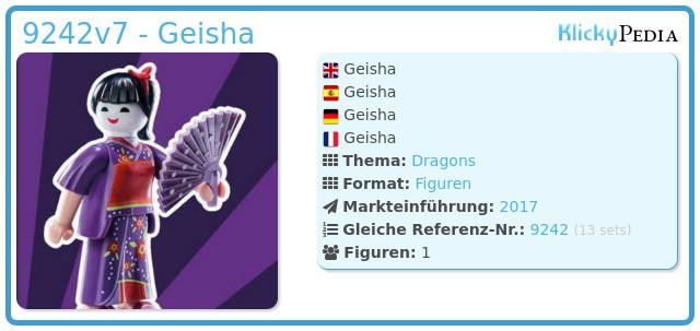 Playmobil 9242v7 - Geisha