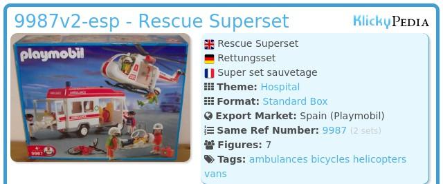 Playmobil 9987v2-esp - Rescue Superset
