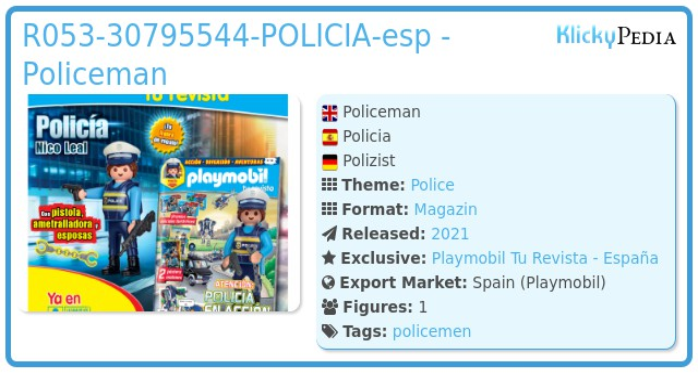 Playmobil R053-30795544-POLICIA-esp - POLICEMAN