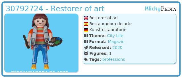 Playmobil 30792724 - Restorer of art