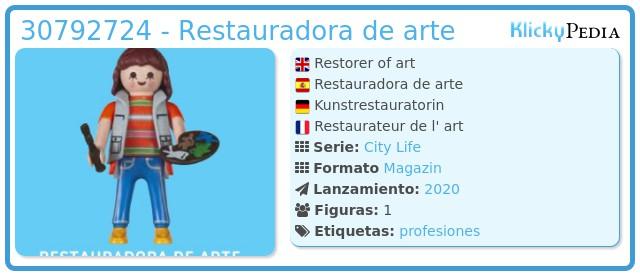Playmobil 30792724 - Restauradora de arte
