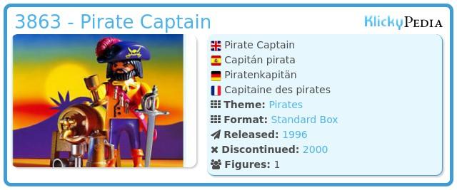 Playmobil 3863 - Pirate Captain