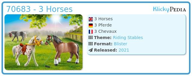 Playmobil 70683 - 3 Horses