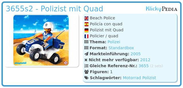 Playmobil 3655s2 - Polizist mit Quad