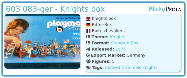 Playmobil 603 083-ger - Knights box