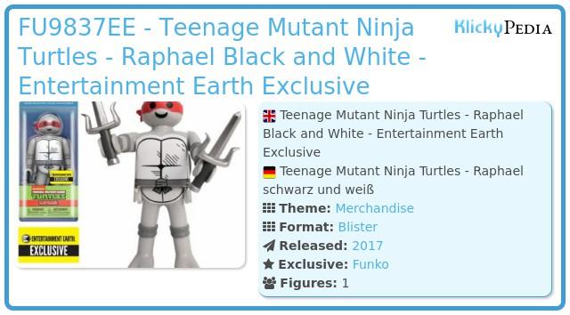 Playmobil FU9837EE - Teenage Mutant Ninja Turtles - Raphael Black and White - Entertainment Earth Exclusive