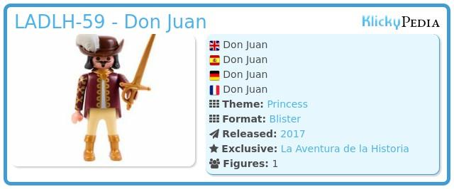 Playmobil LADLH-59 - Don Juan