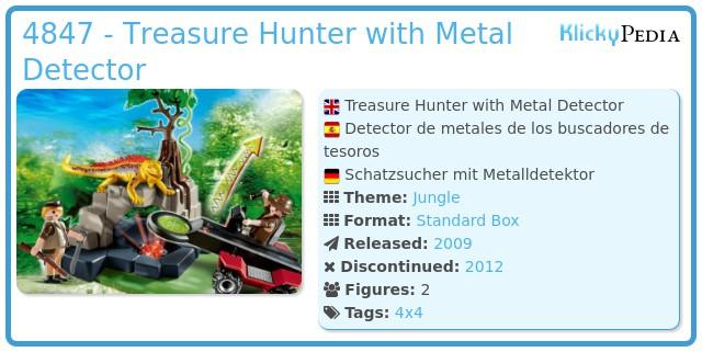 Playmobil 4847 - Treasure Hunter with Metal Detector
