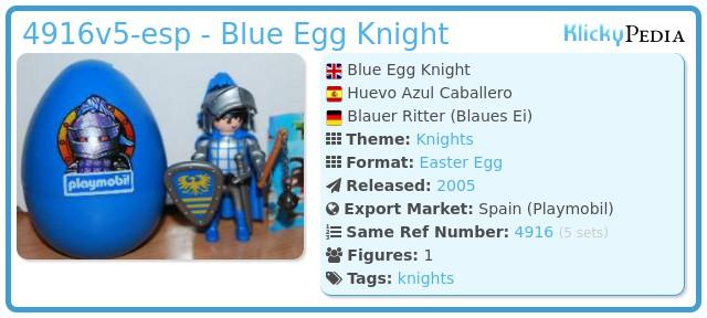Playmobil 4916v5-esp - Blue Egg Knight