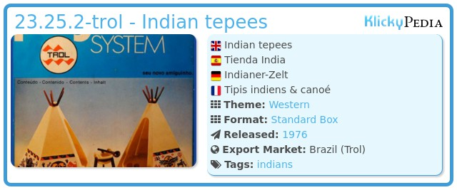 Playmobil 23.25.2-trol - Indian tepees