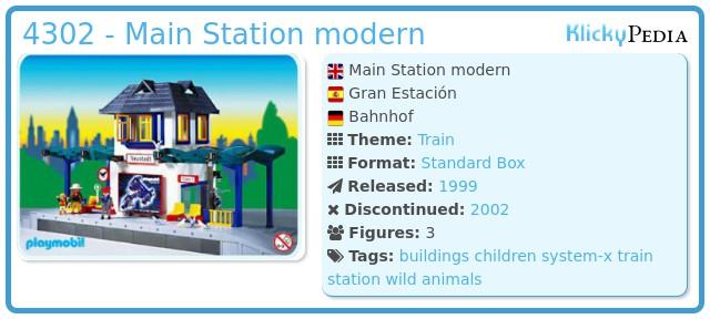 Playmobil 4302 - Main Station modern
