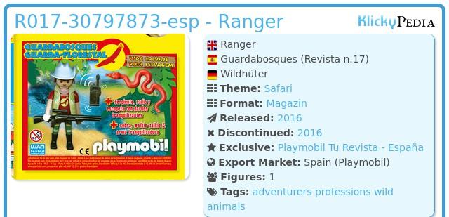 Playmobil R017-30797873-esp - Ranger