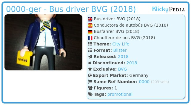 Playmobil 0000-ger - Bus driver BVG (2018)