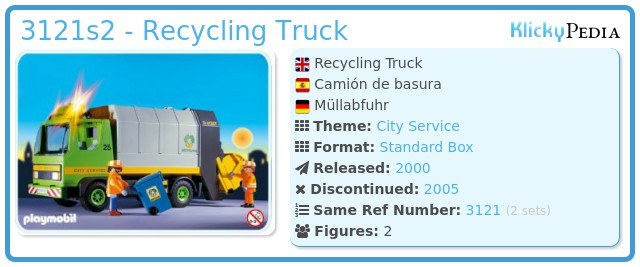 Playmobil 3121s2 - Recycling Truck