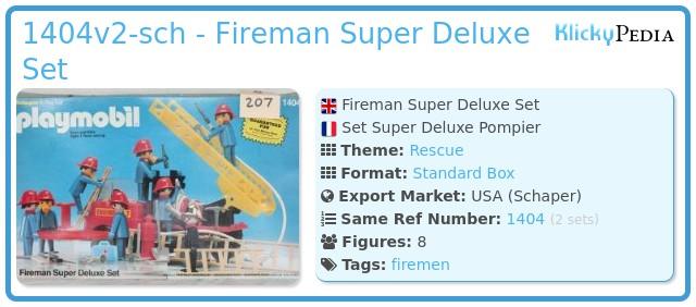 Playmobil 1404v2-sch - Fireman Super Deluxe Set