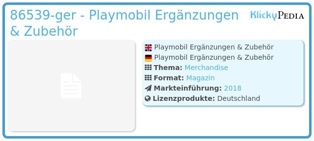Playmobil 86539-ger - Playmobil Ergänzungen & Zubehör