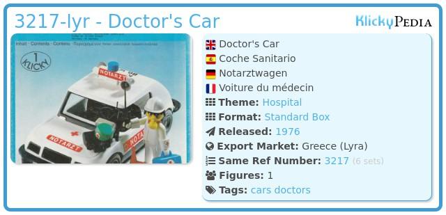 Playmobil 3217-lyr - Doctor's Car