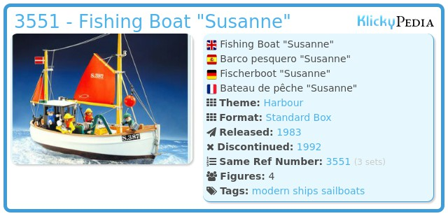 Playmobil 3551 - Fishing Boat Susanne