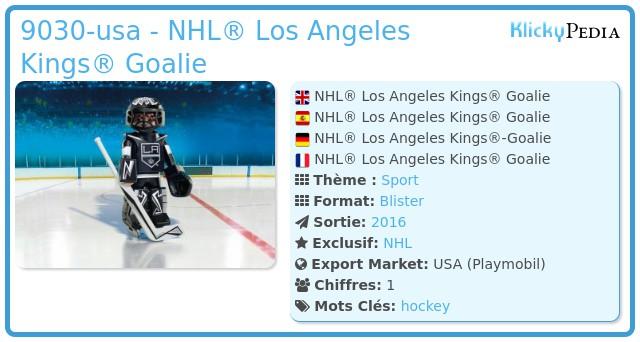 Playmobil 9030-usa - NHL® Los Angeles Kings® Goalie