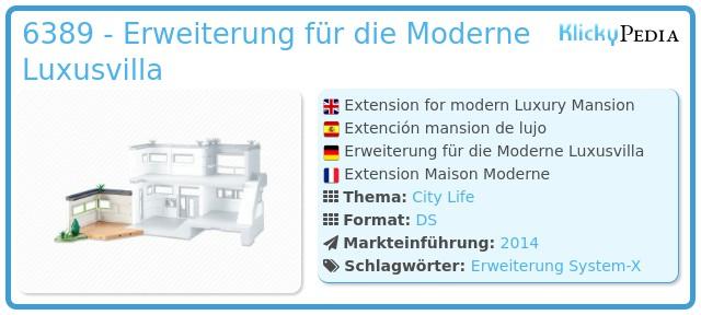 Playmobil 6389 - Erweiterung für die Moderne Luxusvilla