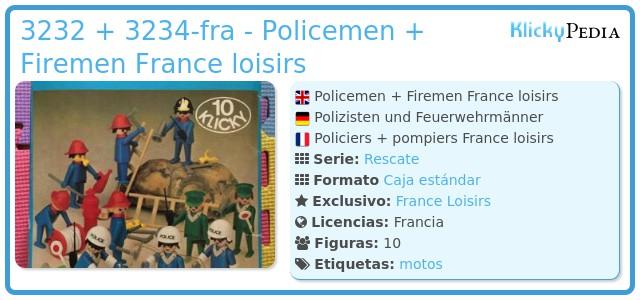 Playmobil 3232 + 3234-fra - Policemen + Firemen France loisirs