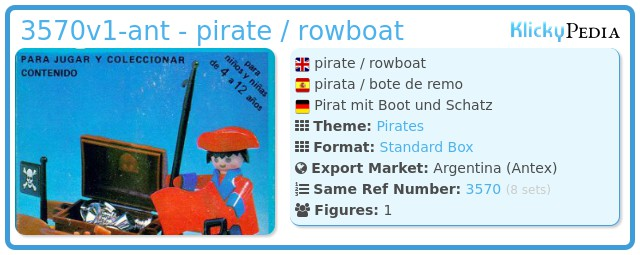Playmobil 3570v1-ant - pirate / rowboat