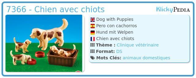 Playmobil 7366 - Chien avec chiots