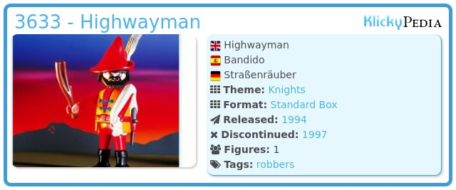 Playmobil 3633 - Highwayrobber