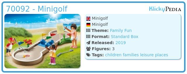 Playmobil 70092 - Minigolf
