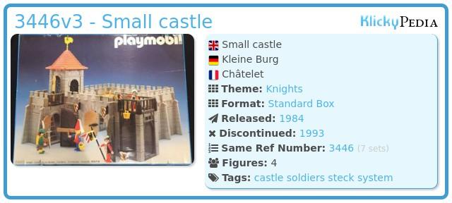 Playmobil 3446v3 - Small castle