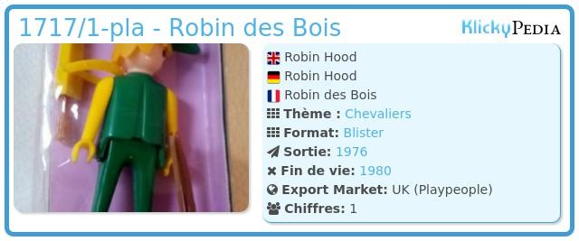 Playmobil 1717/1-pla - Robin des Bois