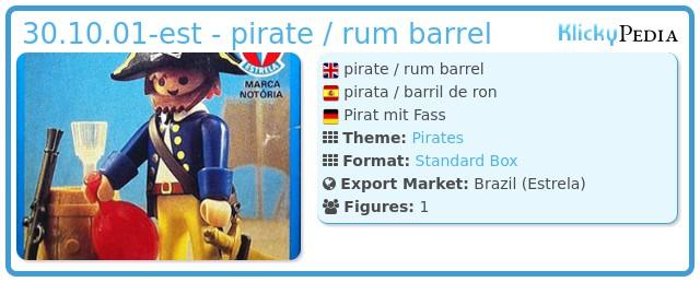 Playmobil 30.10.01-est - pirate / rum barrel