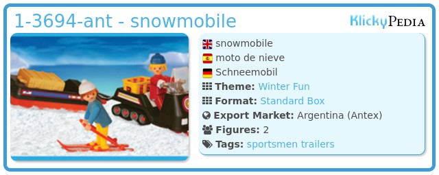 Playmobil 1-3694-ant - snowmobile