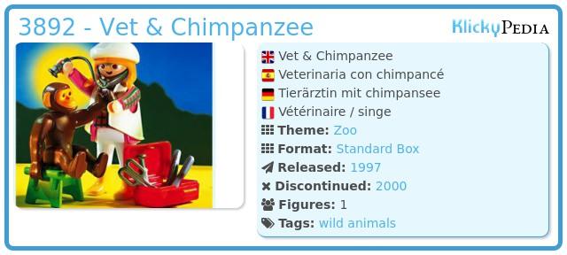 Playmobil 3892 - Vet & Chimpanzee