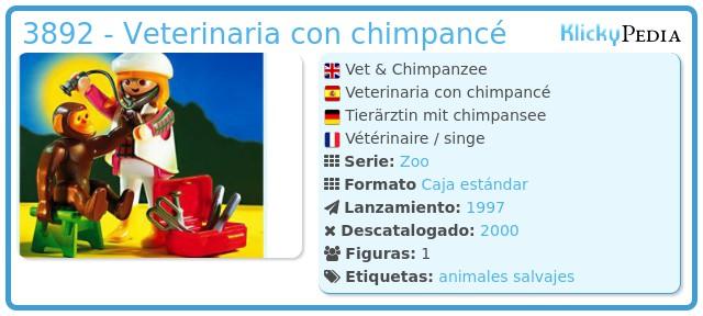 Playmobil 3892 - Veterinaria con chimpancé