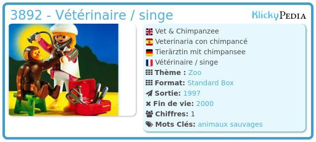 Playmobil 3892 - Véterinaire avec des chimpansees