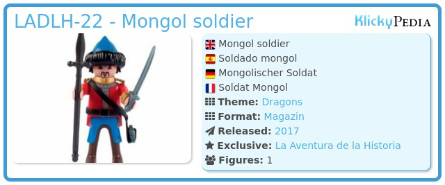 Playmobil LADLH-22 - Mongol soldier