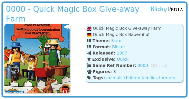 Playmobil 0000 - Quick Magic Box Give-away Farm