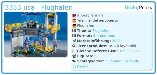 Playmobil 3353-usa - Flughafen
