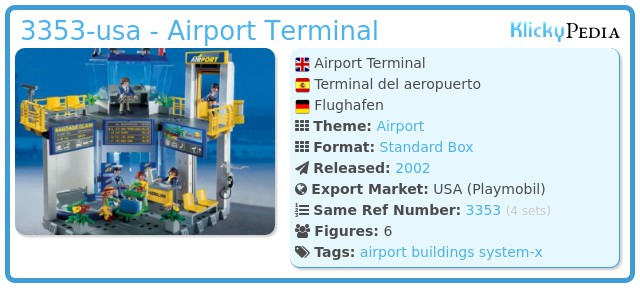 Playmobil 3353-usa - Airport Terminal