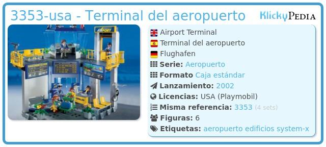 Playmobil 3353-usa - Terminal del aeropuerto
