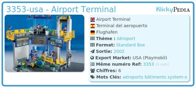 Playmobil 3353-usa - Airport Terminal