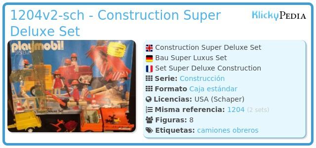 Playmobil 1204v2-sch - Construction Super Deluxe Set