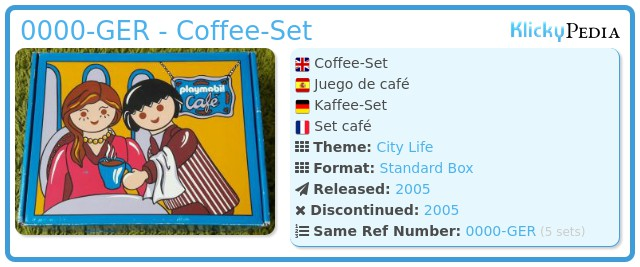 Playmobil 0000-GER - Coffee-Set