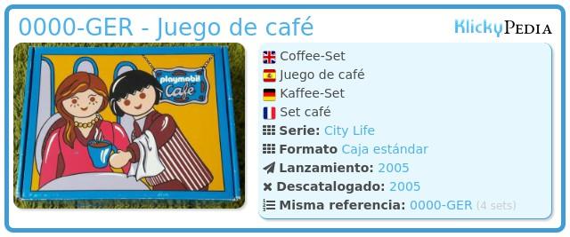 Playmobil 0000-GER - Juego de café