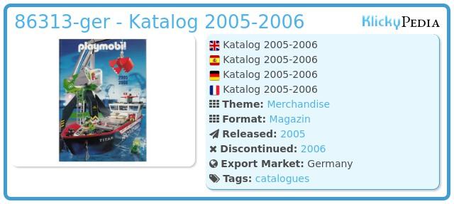 Playmobil 86313-ger - Katalog 2005-2006