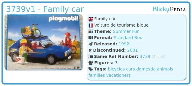 Playmobil 3739v1 - Family car