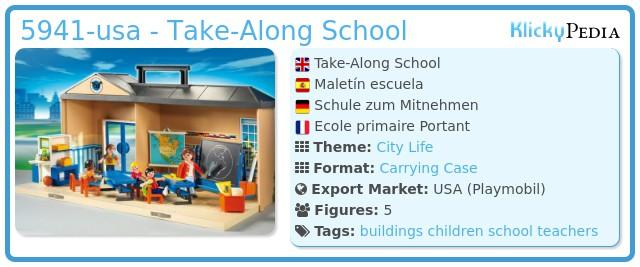Playmobil 5941-usa - Take-Along School